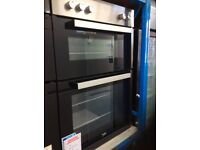 Stainless steel electric double oven new graded 12 mth gtee £230