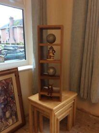 Oak shelf display unit