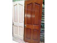 Pair rebated interior solid wood doors