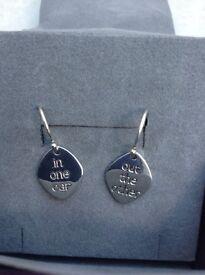 Pia silver drop earrings