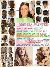 Ladies for a hair cut