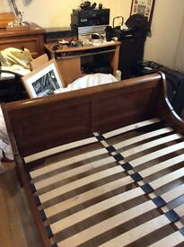 Beautiful solid wood m and s sleigh bed