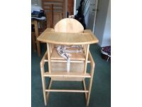 High chair: East Coast Nursery Wooden Combination