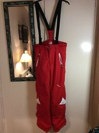 Red Ski Trousers, Adult Small