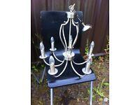 lovely light steel Gold finish chandelier light,