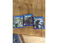 Fifa 17, Call of Duty, Watch Dogs
