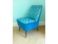 Newly refurbished vintage cocktail chair