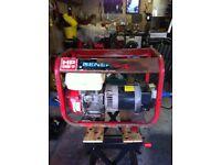 Generac HP2500 Generator. 2.7Kva. Honda Gx160.