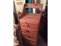 LEKSVIK TALLBOY DRAWER UNIT 5 drawers great condition