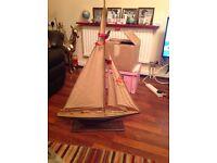 Wooden boat or barge