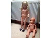 Two 1960s dolls