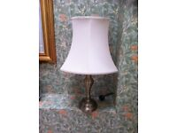 LARGE SIDE LAMP WITH CREAM SHADE
