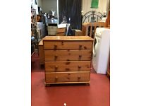 Pine chest of draws delivery available