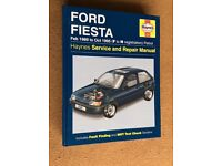 HAYNES MANUAL FOR FORD FIESTA
