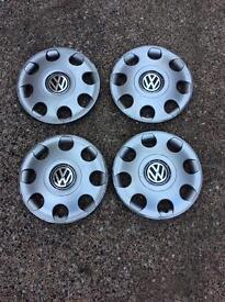 VW wheel trims 13 inch - used