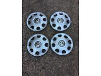 VW wheel trims 13 inch - used