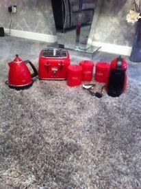 Red kitchen accesories