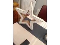 Light up wooden star