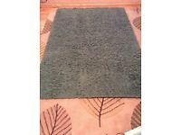 Dark teal shaggy rug