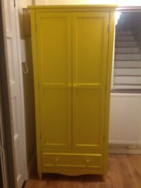 **Fantastic** Yellow Wood Double wardrobe Ideal for children's room