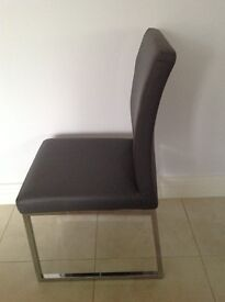 Dwell grey dining chairs