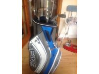 PING golf trolley/carry bag plus clubs
