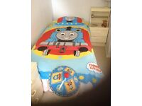 Thomas the tank engine duvet cover, pillow case and lampshade
