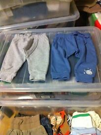 Large bundle of 0-3, 3-6 months boy(some unisex) clothing. All excellent condition.