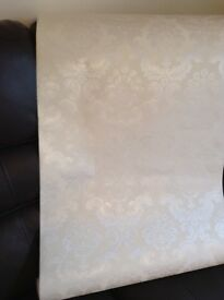 Creamy white color roll wall paper