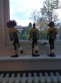 3 x Rare Reggie Boyz Jamaican Football Figures purchased in Montego Bay