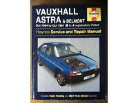 Haynes Workshop Manual For Vauxhall Astra & Belmont 84-91