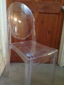 Ghost Chair, Transparent Acrylic