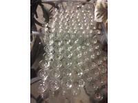 Large and small wine glasses for sale