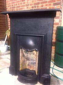 Edwardian Fireplace - Fully Restored 76cm wide, 120cm high, mantelpiece 112cm wide.
