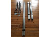 Scaffolding parts suitable for shop fittings, etc