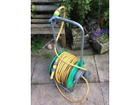 Hozelock hose reel on stand