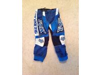 Motocross trousers mx pants fox racing size 26 kids youth trials