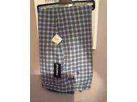 46R Stromberg Golf Trousers - Funky Light Blue Check - BNWT