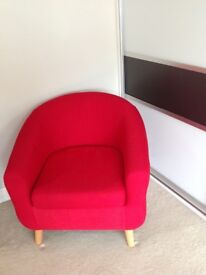 A stunning RED statement chair