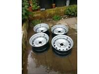 Banded steelies steel wheels