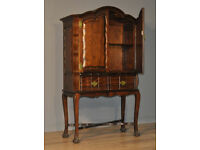 Attractive Vintage Antique Style Mahogany Two Door Cabinet On Cabriole Legs
