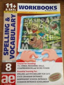 ae Tution Advanced Workbooks Spelling and Vocabulary for 11+ and SATS