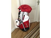 Nike Air Hybrid Golf Carry Bag - Red and White
