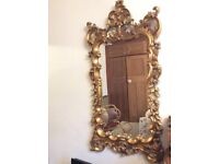 Ornate rococo full length gold dress mirror