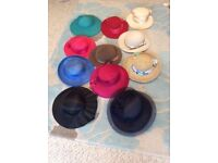 11 NEW LADIES HATS