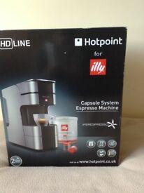 Hot point Illy capsule espresso machine. unwanted gift not used