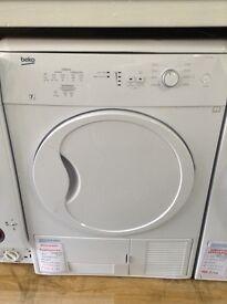 Beko 7kg condensing dryer. New/graded 12 month gtee