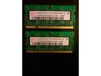 2 x 512MB DDR2 PC4200 - £10