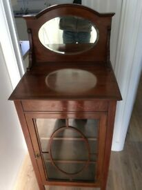 For sale Edwardian antique display cabinet nice condition