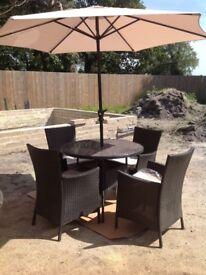 4 seater Panama patio set